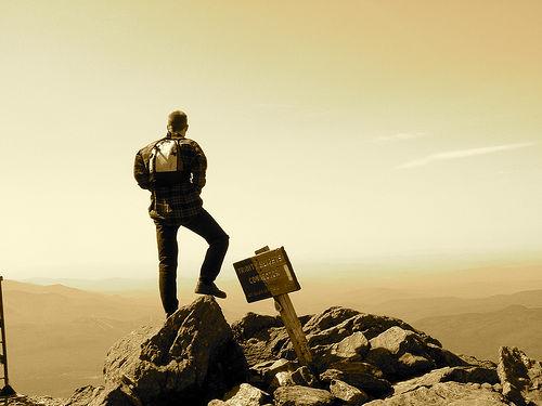 Bold Man at the Summit!